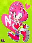 Amy Rose (MERCH Available) by RZSTUDIO