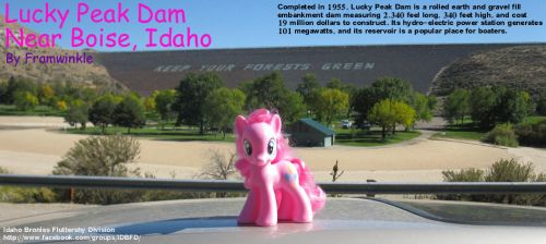 Pinkie Pie at Lucky Peak Dam by Framwinkle