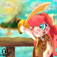 Pink D. Pie The most notorious pirate in all o by gregeyman555