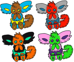 Fuzzy Creature Adopts, only 1 and 4 left! by Cute-Uke-Adopts