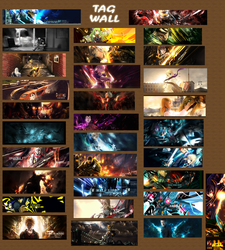 1st Tag Wall by beefjerky7