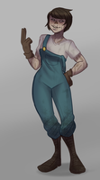 Fallout: Quick Ghoul Gal Concept by Rad-Pax