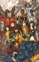X-men colored by Kachumi by Kachumi