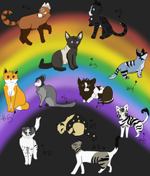Adopts (5-10 points) 10/11 open by Splashed-Canvas