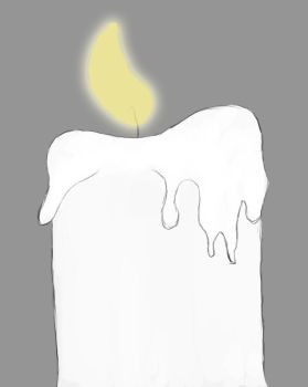 Candlelight Daily sketch #416 by GothicVampireFreak