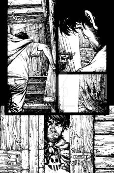 The Cape: Fallen Issue #1 page 9 inks