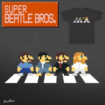 Super Beatle Bros. - T-shirt by Toomi5
