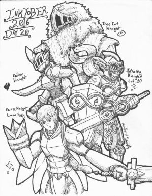 Inktober 2016 Day 20 Legendary Knights by ShadowEclipex