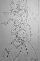 Winter Queen Coloring Page by papermuse
