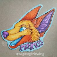 Maymoo headshot badge commission by nightspiritwing