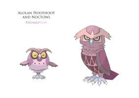Alolan Hoothoot and Noctowl 3