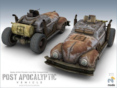 Postapcalyptic car by sethodie