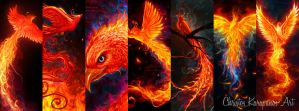 Phoenixes by amorphisss