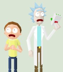Rick and Morty in the Third Dimension by Kalyandra
