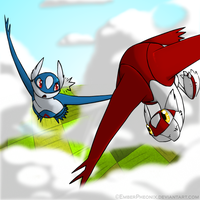 RQ: Latios and Latias by VazlaKat