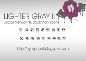 Lighter Gray II - Social Icons by nymphont