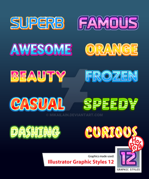 Illustrator Graphic Styles 12 by mikailain