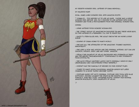 My Rebirth version of Wonder Girl. by mhunt
