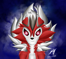 midnight lycanroc pic!! by unversedpath