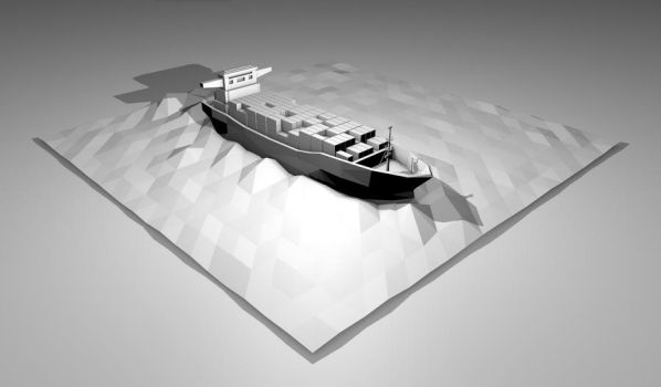 Cargo Ship by therealghostclown