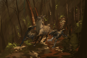 A Merry Jaunt Through the Woods by rompingBolty