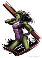 She-Hulk by YamaOrce