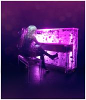 The Lady and Her Piano by RebelViva