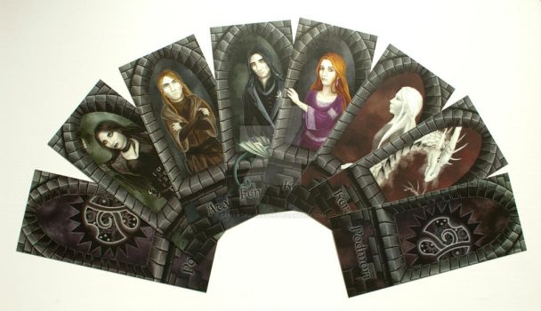 Commission: Prints of bookmarks for Katanga (II.) by Samantha-dragon
