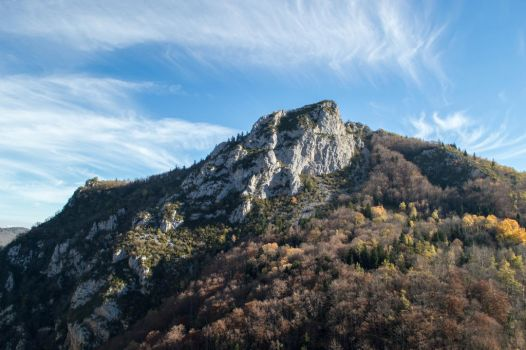 Mountains around Montsegur-1 by RowyeStock