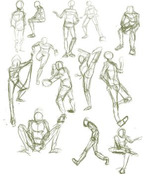 gesture poses by Nishi06