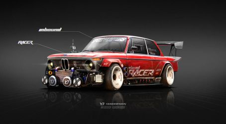 1974 BMW 2002 Inbound Racer by yasiddesign