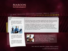 Webdesign - 'Maroon' by CybertronicStudios