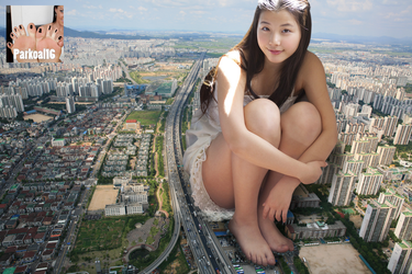 Giantess in Korea by Parkoal16