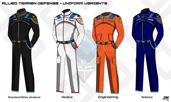 ATD Space Military Uniform Variants by Apocryphea