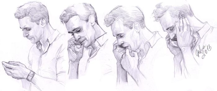 Hiddles on the phone by DafnaWinchester