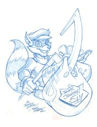 Sly Cooper sketch by skullbabyland
