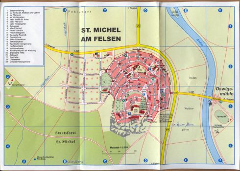 City Plan of St. Michel am Felsen by Eisenholz