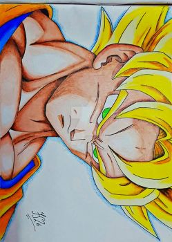 Goku Super Saiyan 1 (SSJ) by FlashStar26