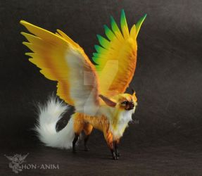 Fantasy Winged Cat by hon-anim