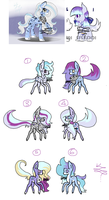 Snow Leopard Wolf Ponies (Closed) by PsychoBerries