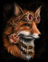 steampunk fox by kitsu-aseru