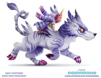 Daily Paint 1999# Digimononoke by Cryptid-Creations