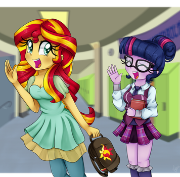 Commission: See you next class! by Lucy-tan