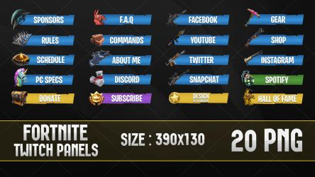 Fortnite - Twitch Panels by lol0verlay