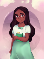HBD Rachel - Steven Universe Connie Maheswaran by graceful-arts
