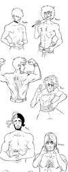 Shirtless Men Requests by Magistelle