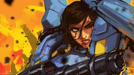 Pharah speed paint - Twitch.tv/Geersart by DarrenGeers
