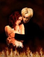 Draco and Hermione by Wmash