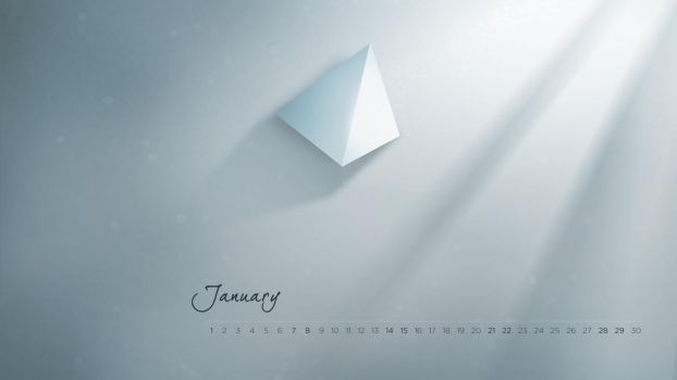 January - Minimal wallpaper by Robke22
