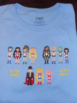 Sailor Moon T-Shirt Finished by Joce-in-Stitches